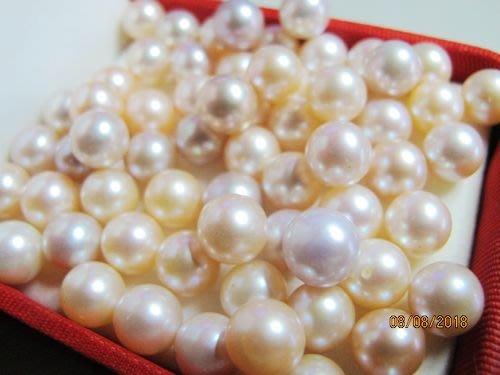 一品軒珍珠促銷]3A++級正圓天然完美無暇南洋珍珠裸珠.粉.紫.白.