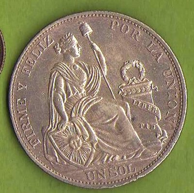 1PY58-033  祕魯1916年1SOL 銀幣 稀有 品像極優 25g.900silver .km196.28