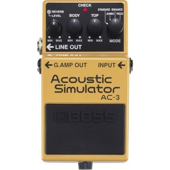 【六絃樂器】全新 Boss AC-3 Acoustic Slmulator 空心吉他模擬效果器 / 現貨特價
