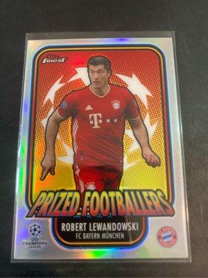 Robert Lewandowski 2020-21 Topps Finest Champions League Prized Footballers 亮面