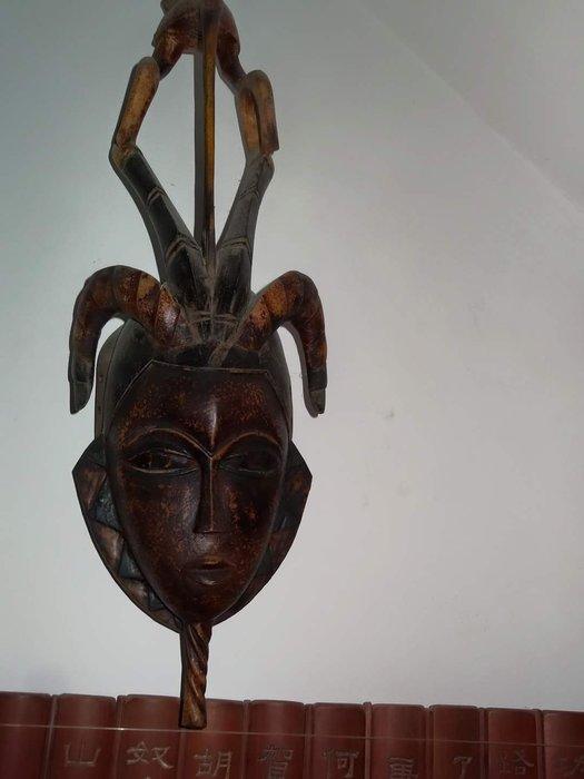 [御寶閣] 古董 文物 藝品 字畫 化石~非洲 少數民族 木雕面具 老件 非洲面具 老面具 大型面具