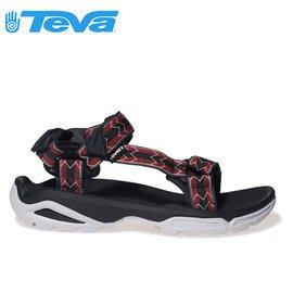 丹大戶外【TEVA】美國男款 Terra Fi 4 多功能水陸平底運動涼鞋 1004485 CTRR 菱格紅