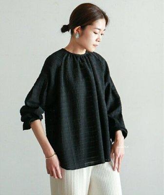  The Dood Life 日本 NOMBRE IMPAIR / 定番の大人味2way前後穿 凹凸織理縐紗 罩衫襯衫