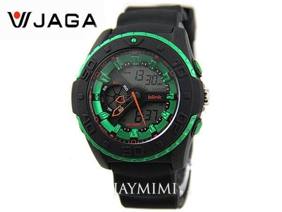 【JAYMIMI傑米】  JAGA 捷卡Blink系列‧特戰部隊多功能雙顯示電子錶 綠色 AD1015 軍人 學生