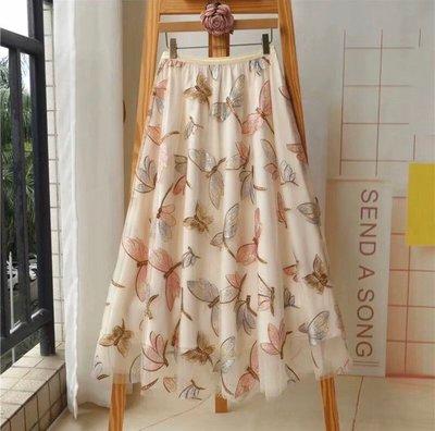 🌸Nana醬的甜蜜花園🌸舞蜻蜓華麗風紗裙(灰杏色現貨)甜心價喔