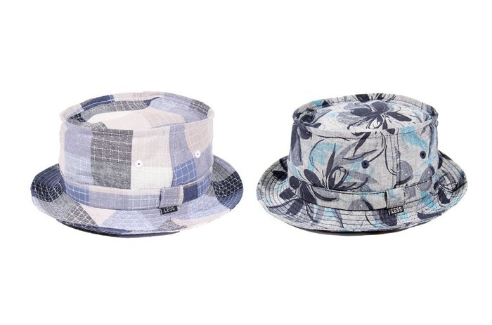 { POISON } LESS FLOWER PATCHWORK PATTERN PORK PIE HAT 豬肉派小帽