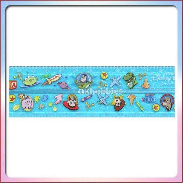 Ariel's Wish日本東京迪士尼限定玩具總動員火箭筒三眼怪巴斯光年胡迪暴龍火腿彈簧狗折疊式長尺30cm量尺-日本製