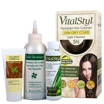《小瓢蟲生機坊》洛特綠活染髮劑VitalStyl - 染髮劑5N淺棕黑(植物染) 天然 染髮劑