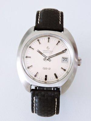 瑞士CERTINA 雪鐵納 DS-2典藏自動上鍊機械古董錶男錶