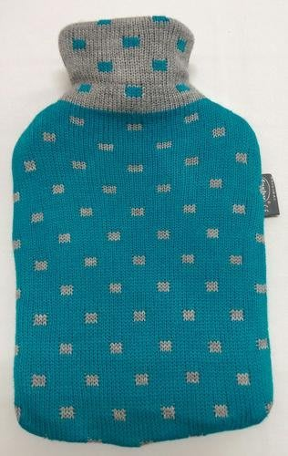 【宇冠】德國fashy 藍色方點針織 2L冷/熱兩用水袋,特價優惠$920元
