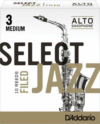 【幫你買】D'addario Jazz Select Filed Eb Alto Saxophone Reeds,10 Ct,3M Strength 全新