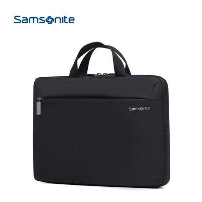 電腦包Samsonite/新秀麗時尚公文包 精品商務電腦包簡約手提兩用單