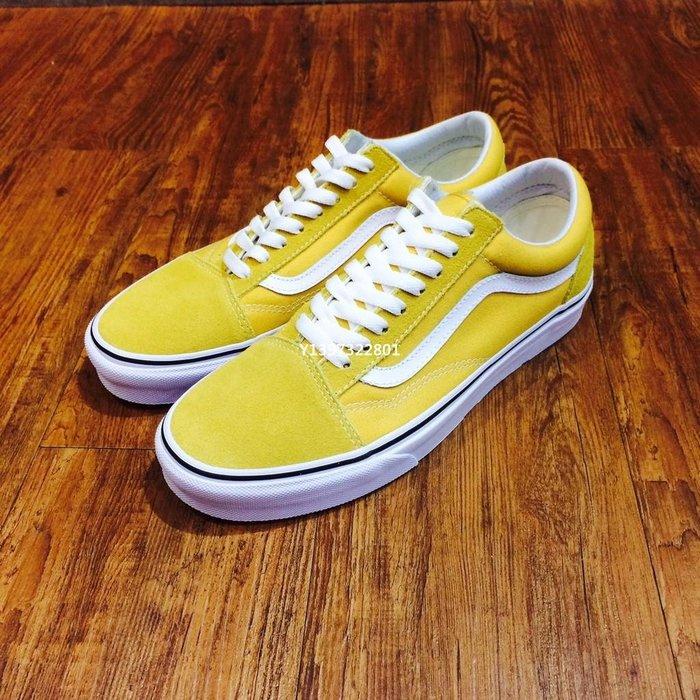 (smart) VANS基本款 黃 Vans Old Skool 男女 基本款 滑板鞋 VN0A38G1QA0
