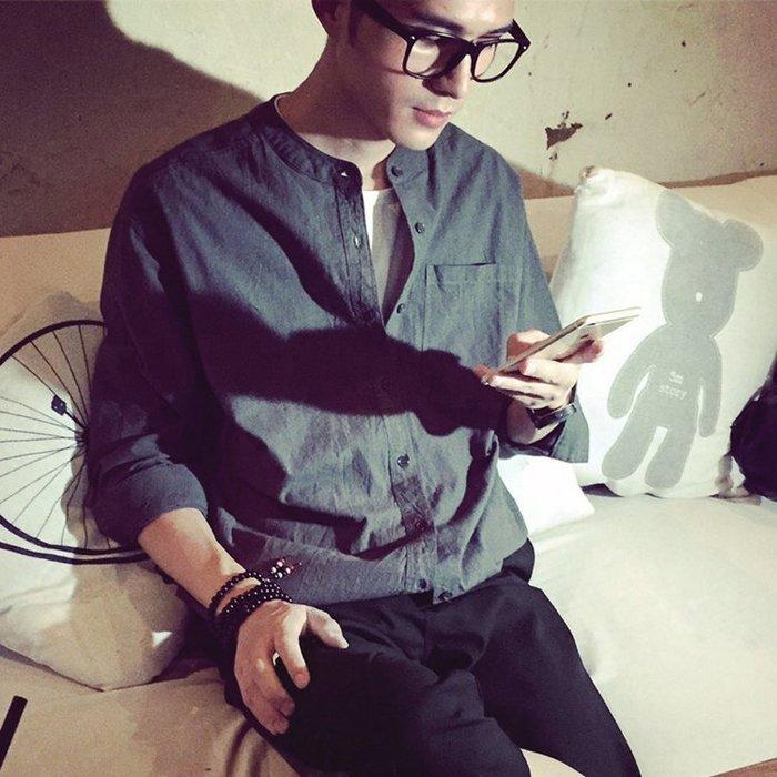 Chita Man + 寬鬆棉麻 中山立領 襯衫,三色