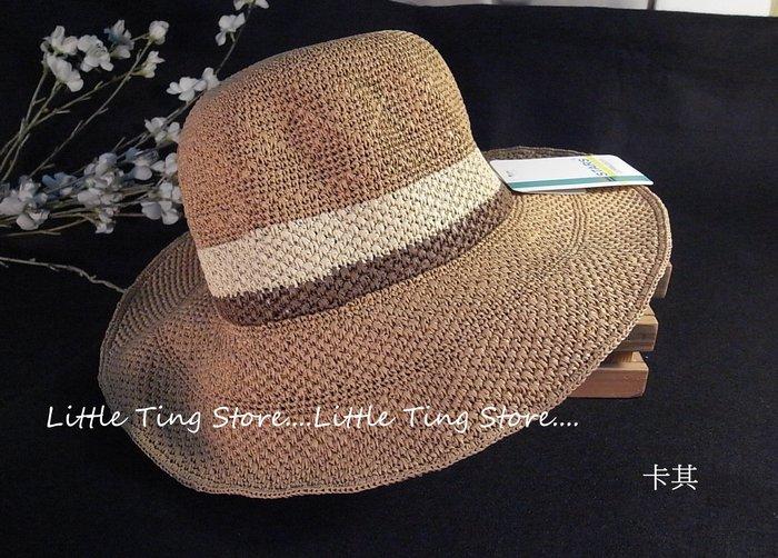 外銷日本天然植物草帽細鉤織菱格條紋時尚草編遮陽帽可折摺疊uv防曬遮陽帽寬緣帽遮陽帽寬緣帽沙灘帽英倫禮帽