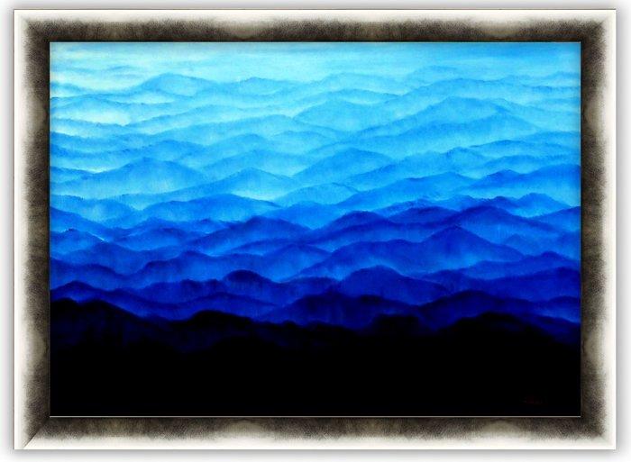 {藝術之都}手繪創作油畫~層峰~90*126CM   可訂製尺寸  實品拍攝(實品拍攝)