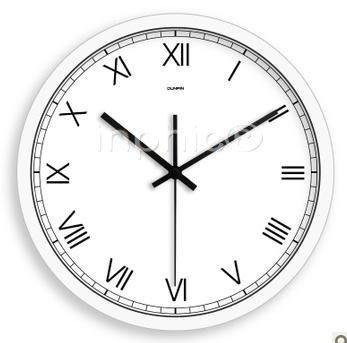 INPHIC-14英吋客廳掛鐘靜音時鐘表歐式簡約