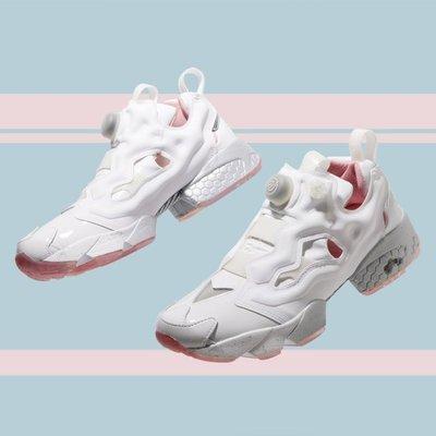 REEBOK INSTA PUMP FURY X EPITOME 充氣慢跑鞋 白色 白粉 白銀 BD5374 男女款