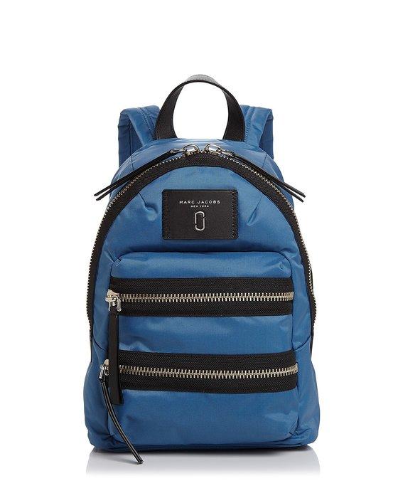 Coco 小舖 MARC JACOBS Nylon Biker Mini Backpack 灰藍色迷你尼龍後背包