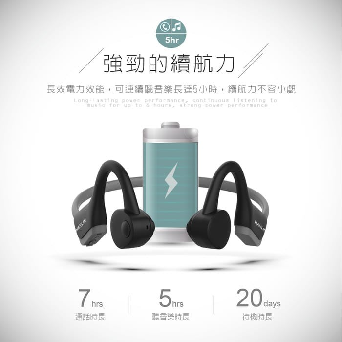 【 結帳另有折扣 】 藍牙耳機 防水藍牙5.0骨傳導運動耳機 HANLIN-BTJ20 不入耳耳機 無線耳機 安卓 頻果