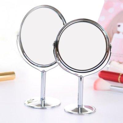 618大促 高清雙面臺式化妝鏡不銹鋼放大-晴景街