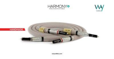 WAYCables HARMONY+ 5N單晶銀 RCA/XLR 類比訊號線 歡迎來電洽詢