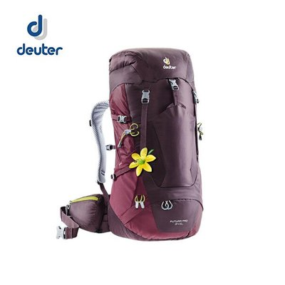 丹大戶外用品【Deuter】Futura  PRO-34-SL女款透氣網架背包 3401018 酒红