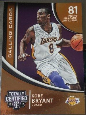 #x27 16- #x27 17 TC Calling Cards No.34 Kobe Bryant