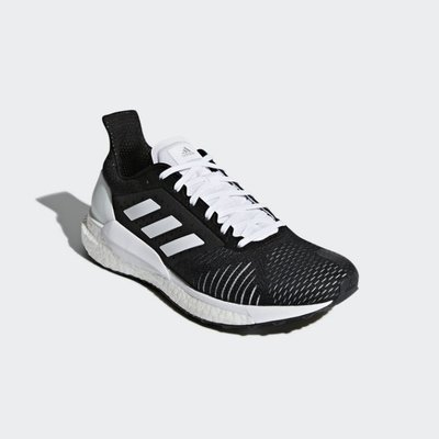 # ADIDAS SOLAR GLIDE ST BOOST 黑白 慢跑 編織 緩震 馬牌 女鞋 BB6617 YTS