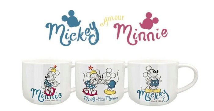 天使熊雜貨小舖~Disney 迪士尼 愛戀米奇陶瓷馬克杯400ml 現貨:米奇、米妮、愛戀米奇米妮3款