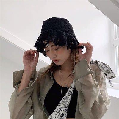 漁夫帽 盆帽-蕾絲網紗鏤空薄款女帽子2色73xu4[獨家進口][米蘭精品]