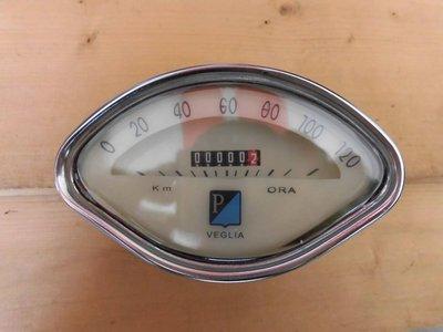 [小柳老物之家]偉士牌VESPA150鴨母四角 P老碼錶(全新品)