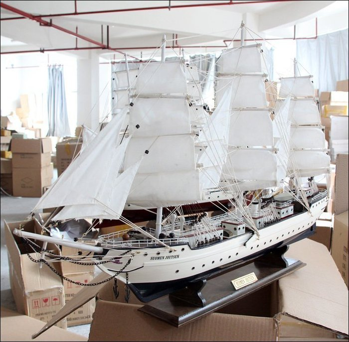 【易發生活館】帆船模型新婚房裝飾擺件地中海特大號木質制工藝船 開業禮品高檔居家客廳擺件辦公招財一帆風順