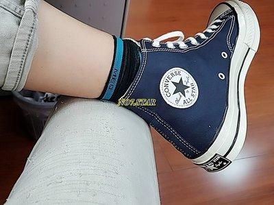 19S CONVERSE ALL STAR 1970 深藍 藏青 帆布 高筒 三星 黑標 奶油底 男女鞋 164945C