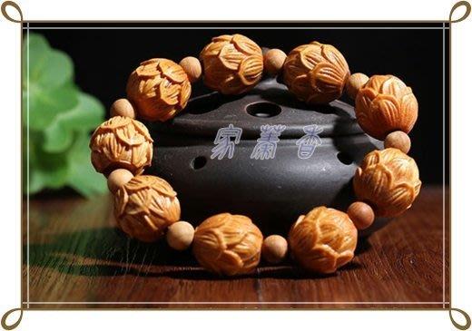 《家蓁香茶坊》崖柏雕刻太行崖柏20mm蓮花雕刻  崖柏佛珠手鏈創意木質禮品