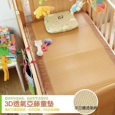 亞藤【3D透氣亞藤】童蓆/嬰兒涼蓆 2*4尺 絲薇諾-  SGS安全認證、天然植物紙纖維、底部3D透氣網布設計
