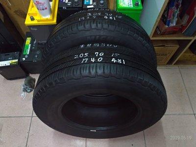 205 70 R 15 米其林 SUV 17年37週製造 二手 中古 落地 CRV 休旅車 輪 胎 一輪2000元