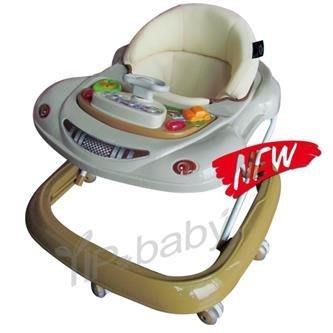 【小海豚】YIP-baby 880汽車造型學步車 Baby Walker 方向盤學步車/螃蟹車.有煞車.靜音輪.透氣座布
