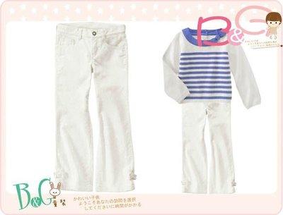 【B& G童裝】正品美國進口Crazy8 Sparkle Bootcut Corduroy Pant鑲金蔥白色燈芯絨布長褲10yrs