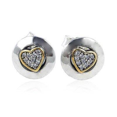 凱莉代購 S925 純銀圓包金色心形耳環  預購特價