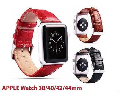 IN7 鱷魚紋系列 Apple Watch 手工真皮錶帶 38mm/40mm 42mm/44mm