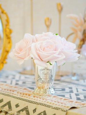 香薰蠟燭Cote Noire花朵香氛法國七朵玫瑰香薰家用臥室助眠仿真花結婚禮物