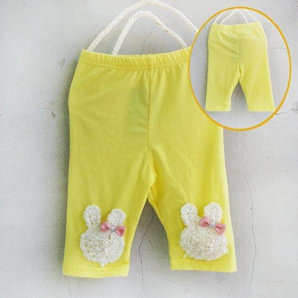 【班比納精品童裝】雪紡蕾絲兔子內搭褲-黃【BN150526008】