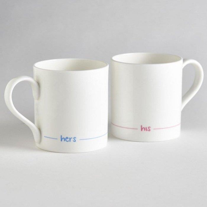 〖洋碼頭〗英國JinDesigns骨瓷咖啡杯情侶對杯水杯茶杯2件套裝275ml禮 L2846