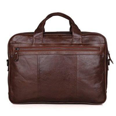 手提 包 真皮公事包-15.6吋牛皮純色方型男包包73ur23[獨家進口][米蘭精品]