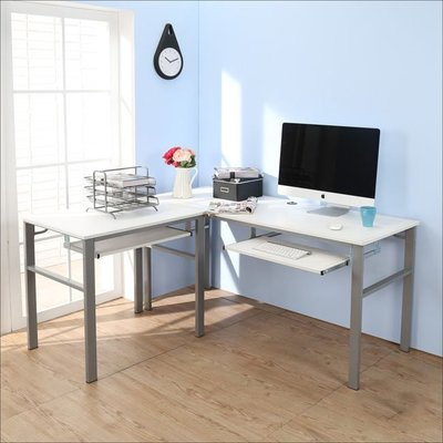 書房【居家大師】低甲醛仿馬鞍皮160+80公分L型雙鍵盤穩重工作桌 電腦椅 收納櫃 I-B-DE043+45WH-2K