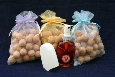 【木質清香特惠組】檜木精油30ml(噴頭式)+檜木球香包(13mm)30克*15包 現貨供應
