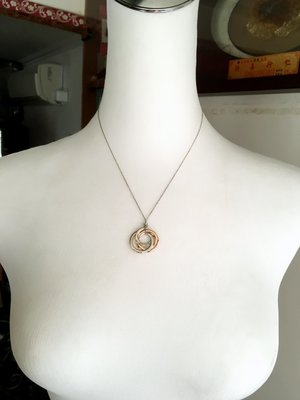 Tiffany&Co (1837系列-Rubedo三環墜飾)項鍊(🙋Tiffany純銀裏的特別款項鍊,低調
