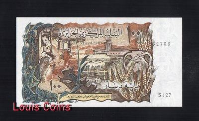 【Louis Coins】B248-ALGERIA-1970阿爾及利亞紙幣,100 Dinars