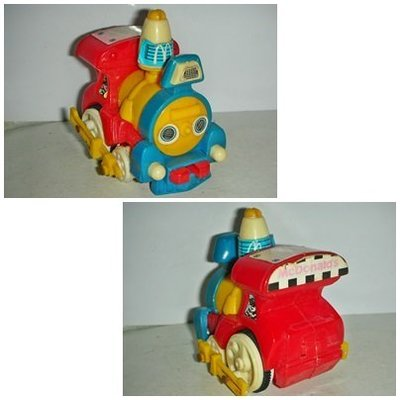 aaL皮商.(企業寶寶公仔娃娃)已稍有年代麥當勞發行漢堡神偷開火車!--距今至少有20年以上歷史值得收藏!/6房樂箱25